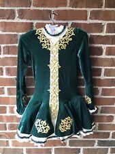 New ListingGirls Figure Ice Skating Dress Irish Dance Green Costume Tutu Adult Xs