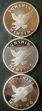 Three Sunshine Minting 1oz Silver Eagle Rounds