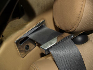 MG MGF MGTF TF ALUMINIUM SEAT BELT TIDY GUIDE SET - BRUSHED or POLISHED finish