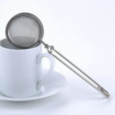Mesh Tea Strainer Stainless Steel Good Sphere Handle Tea Ball Tea Infuser D5C