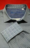 """Robert Graham Men's 2XL Blue """"Dahlberg"""" Long Sleeve Button Down Shirt $198"""