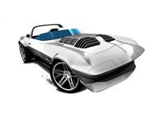 Hot Wheels Cars - Corvette Grand Sport Roadster Silver