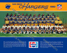 1980 SAN DIEGO CHARGERS NFL FOOTBALL TEAM 8X10 PHOTO PICTURE DAN FOUTS