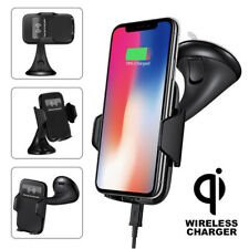 2 in 1 Qi Wireless Car Charger Mount Holder For Samsung Galaxy Note 8 S9 S8 S7