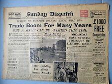 SUNDAY DISPATCH NEWSPAPER WWII JULY 8, 1945 LONDON
