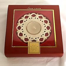 New Lenox Snow Lights Snowflake Votive Tealight Candle Holder Porcelain Cream