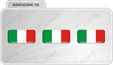 3 Adesivi Resinati 3D Bandiera Italia italy