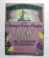 Vintage 1948 Fundraising Greeting Card Sales Catalog