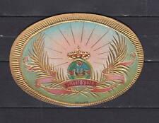 Ancienne petite  Lytho  médaillon  Cigare Label   Couronne