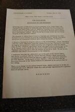AUTHENTIC ORIGINAL JFK WHITE HOUSE  STATEMENT  OF THE PRESIDENT1962 LAOS