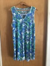 blue nightgown floral reversible XL
