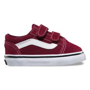 Vans Toddlers Old Skool V(Suede) Port Royale/Black  All Sizes 4-10 Fast Shipping