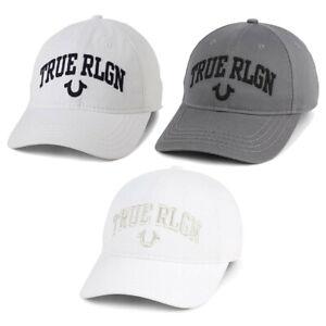 True Religion Unisex Core Embroidered Logo Cotton Baseball Cap Adjustable Hat