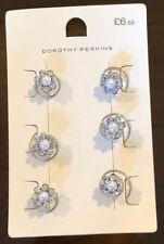 Dorothy Perkins Precioso Plata Espiral ropa Hair Clips x6 Joyería Rrp £ 6.50