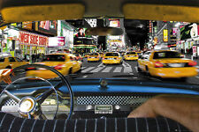 New York Poster Time Square Taxi Ride + 1 gratis Ü-Poster