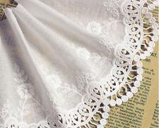 Luz Marfil bordado Adorno de encaje floral de boda nupcial Velo de tul Trim por yarda