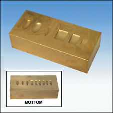 SOLID BRASS RING DAPPING DOMING BLOCK VICE TOOL  CRAFT JEWELLERS WATCH TOOLS