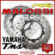 COPPIA DISCHI FRENO ANTERIORI MALOSSI ACCIAIO INOX YAMAHA T-MAX 500 - 6216320E