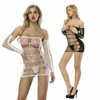 Lady Sexy Body Suspenders Fishnet Stockings Pantyhose Hot Lingerie Mesh Dresses