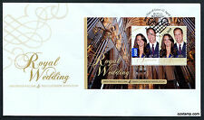 2011 Royal Wedding Minisheet FDC First Day Cover Stamps Australia