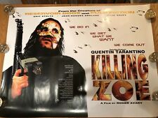 KILLING ZOE - QUENTIN TARANTINO / ERIC STOLTZ - ORIGINAL UK QUAD MOVIE POSTER