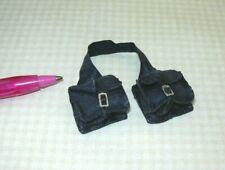 Miniature Prestige Leather Saddle Bags, AGED/BLACK: DOLLHOUSE Miniatures 1:12