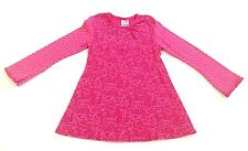 NWOT Keedo South Africa XL 6X 7 8 Hand Painted Floral Pink Cotton Knit Dress Top
