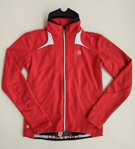 Castelli Men's Windstopper Winter Cycling Jacket Red Medium *Pre-owned* EUC