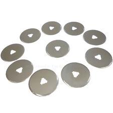 10pcs 28mm Rotary Cutter Blade A4 Cutting Mat Leathercraft Tool Quilting Craft