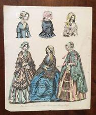 1846 - Costume. Morning Dresses.  Coloured Plate.