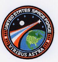 "US SPACE FORCE PATCH - VIRIBUS ASTRA - 3"" Diameter"