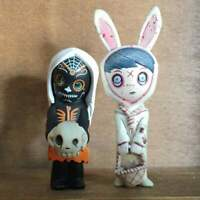 Lot of 2 Living Dead Dolls Resurrection Series Mini Figure Calavera Eggzorcist