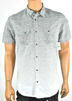 INC International Concepts Mens Black White Shirt New L Short Sleeves Casual dot