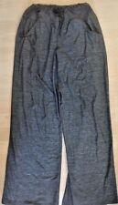 LULULEMON STILL PANTS Classic Static Gray Wide Leg w Drawstring sz 4 Yoga Lounge