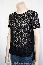 169€ NEU NICE CONNECTION NC T-Shirt Gr.38 Tatoo Spitze Schwarz reine Baumwolle