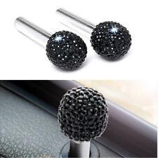 1 Pair Black Rhinestone Handle Peg Pin Decoration Button Car SUV Door Lock Knob