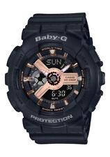 f9280d856f9b BRAND NEW CASIO BABY-G BA110RG-1A BLACK/ROSE GOLD ANA-DIGI
