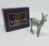 VINTAGE Theodore Paul Pewter Deer Foal Lamb Boxed Zinn Collectable