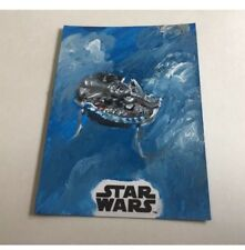 Topps Star Wars 2017 The Last Jedi Sketch Millenium Falcon Silverman -SOLO