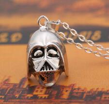 Star Wars Silver Men Women Helmet Alloy Necklace Pendant Free Chain Gift #JEWNEW