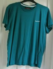 New Pierre cardin 100% cotton mens T-shirt Kingfisher XL