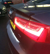AUDI A6 C7 2014-ON OEM CURVED WING REAR TRUNK BOOT LIP SPOILER M2 ABS Y3239