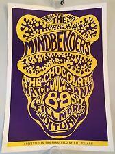 Vintage BG 16-3 Fillmore Bill Graham Wes Wilson Poster Mindbenders 1966