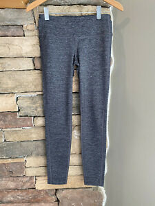 Athleta Gray Heathered Odyssey Chatarunga Leggings~~Size Small