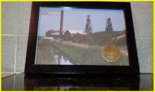 rossington colliery Yorks .token print in  frame . gift for X miners .