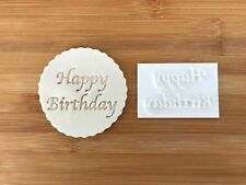 Embossing for cupcake and cake - stamps sugar paste HAPPY BIRTHDAY