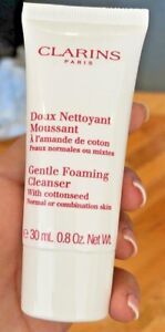 CLARINS Gentle Foaming Cleanser with Cottonseed 0.8oz EACH- SEALED (2 PACK!)
