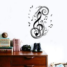 Large Music Notes Removable Wall Stickers Wall Decals Home Deco Art Gift Mural