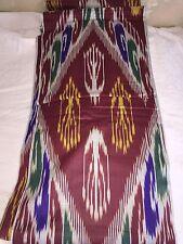 Tela de algodón patrón ikat uzbekistán a mano 10 M X 37 cm