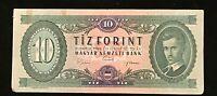 1969  HUNGARY MAGYAR BANKNOTE 10 TIZ  FORINT  A594 059552 EF